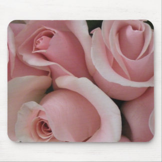 Pink Roses Floral Mouse Pad