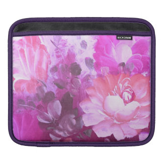 Pink Roses Flowers Vintage Art iPad Sleeve