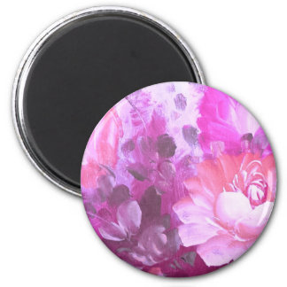 Pink Roses Flowers Vintage Watercolor Art Magnets