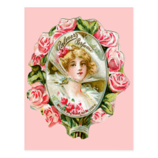 Pink Roses for Palmers Perfume Postcard