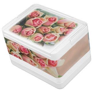 Pink Roses in a Basket Cooler