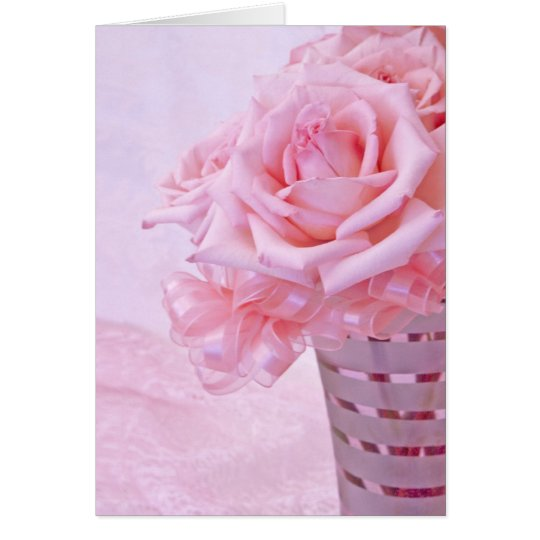 Pink roses IV Card
