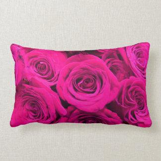 Pink Roses Lumbar Cushion