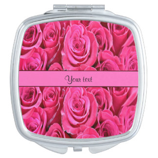 Pink Roses Mirror For Makeup