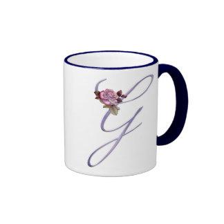 Pink Roses Monogram G Coffee Mug