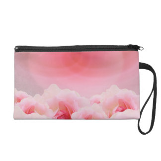 Pink Roses Mother's Day Wristlet Clutches