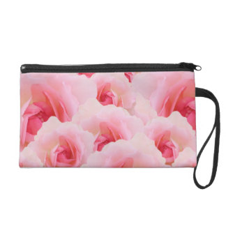 Pink Roses Mother's Day Wristlet