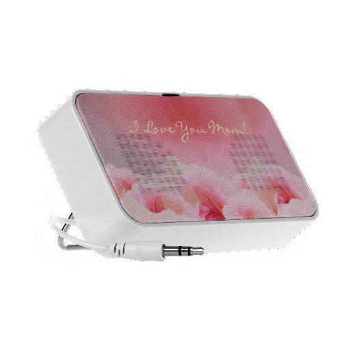 Pink Roses Mother's Day Travel Speaker
