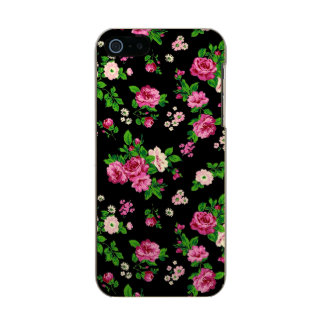 Pink Roses On Black Background Incipio Feather® Shine iPhone 5 Case