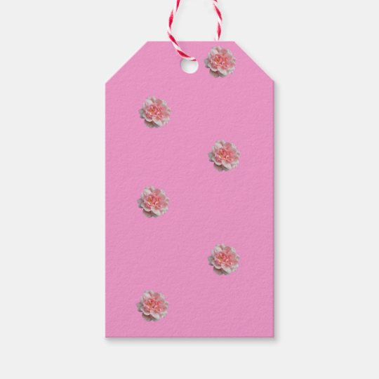 Pink Roses on Pink Gift Tags