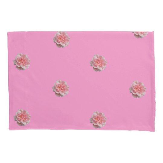 Pink Roses on Pink  Reversible Pillowcase