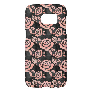 Pink Roses ona a Black Backround