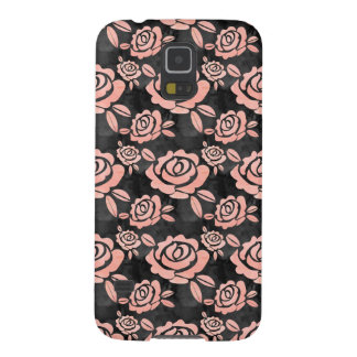 Pink Roses ona a Black Backround Galaxy S5 Cases
