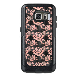 Pink Roses ona a Black Backround OtterBox Samsung Galaxy S7 Case