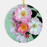 Pink Roses Ornament