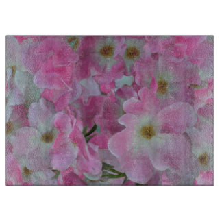 Pink Roses Painting Cutting Board