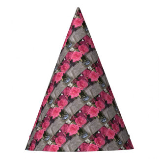 Pink Roses Party Hat