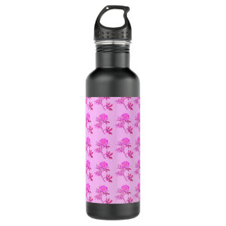 Pink Roses pattern 710 Ml Water Bottle
