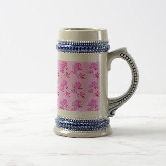 Pink Roses pattern Beer Steins