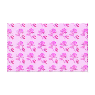 Pink Roses pattern Canvas Print