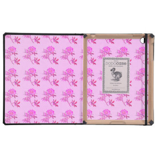 Pink Roses pattern iPad Case