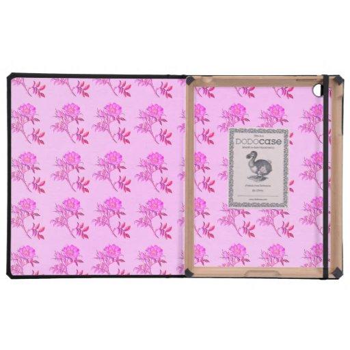 Pink Roses pattern iPad Case