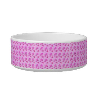 Pink Roses pattern Cat Water Bowl