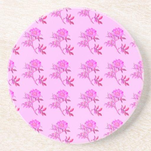 Pink Roses pattern Coaster
