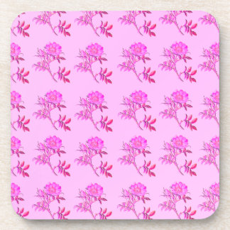 Pink Roses pattern Drink Coasters
