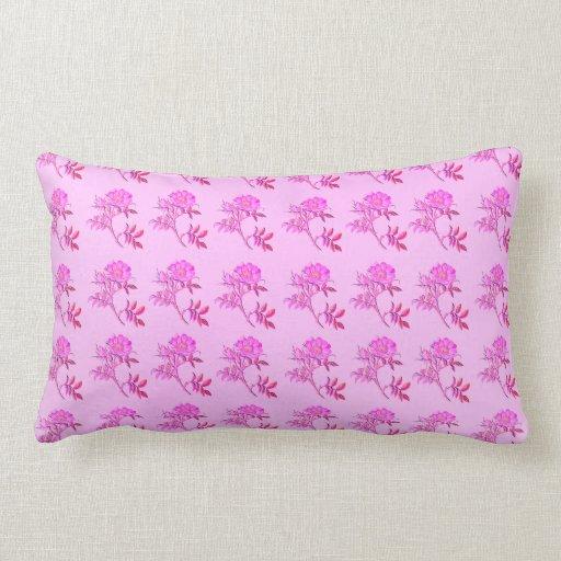 Pink Roses pattern Throw Pillows