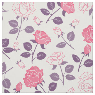 Pink roses pattern Fabric