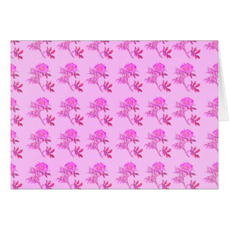 Pink Roses pattern Greeting Card