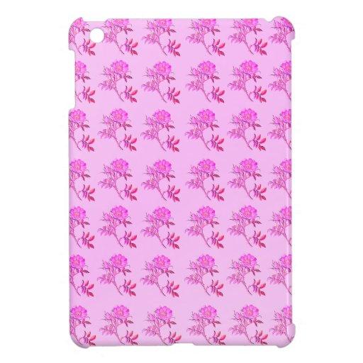 Pink Roses pattern iPad Mini Cover