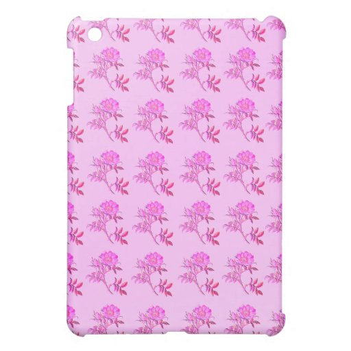 Pink Roses pattern Cover For The iPad Mini