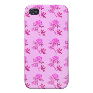 Pink Roses pattern iPhone 4/4S Cases