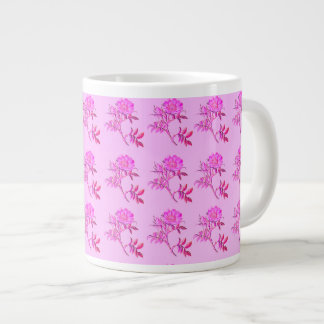 Pink Roses pattern Large Coffee Mug