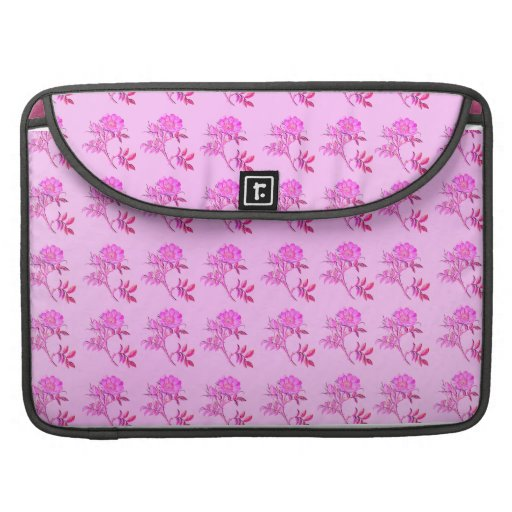 Pink Roses pattern Sleeve For MacBook Pro