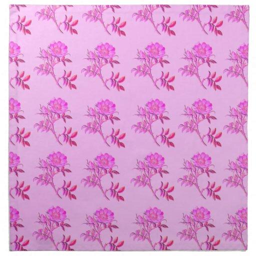Pink Roses pattern Printed Napkin