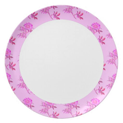 Pink Roses pattern Plate