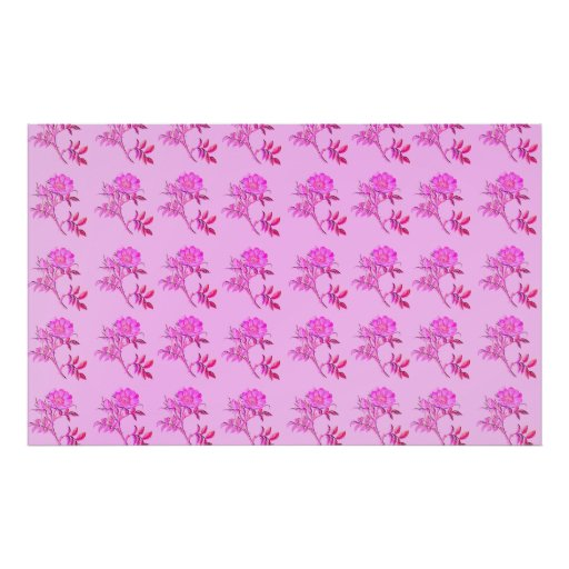 Pink Roses pattern Print