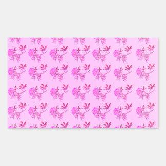 Pink Roses pattern Rectangular Sticker