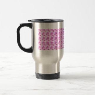 Pink Roses pattern Stainless Steel Travel Mug