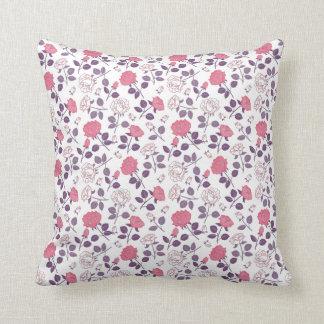 Pink roses pattern Throw pillow