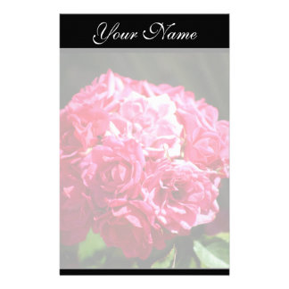 Pink Roses Stationary Personalized Stationery