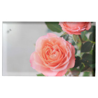 Pink Roses Table Card Holder