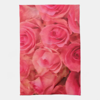 Pink Roses Tea Towel