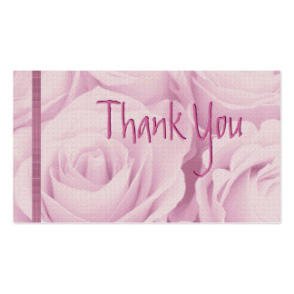 PINK Roses Thank You Wedding Card Pack Of Standard Business Cards