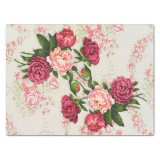 Pink Roses Tissue Paper