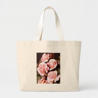 Pink Roses Totebag Jumbo Tote Bag