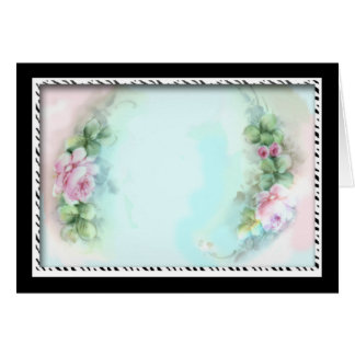Pink Roses Victorian Style Design Greeting Card
